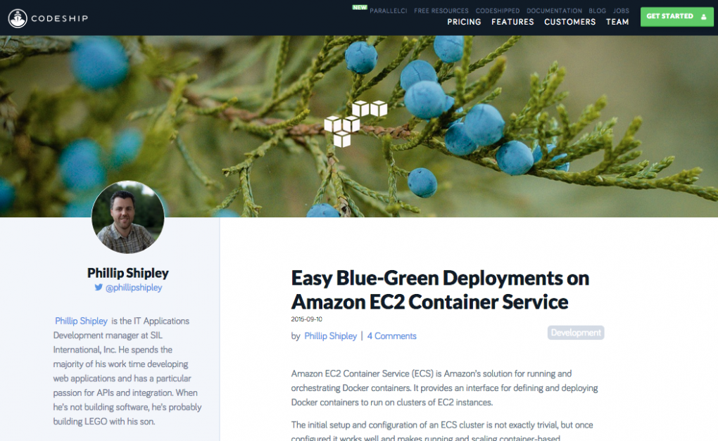 Easy Blue-Green Deployments On Amazon EC2 Container Service