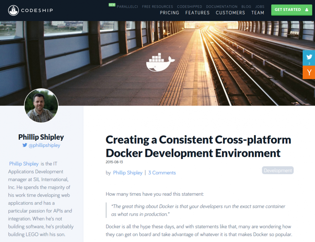 Creating A Consistent Cross-platform Docker Development Environment